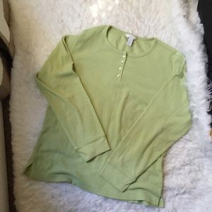 Charter Club Intimates Stretch Apple Green Top.-I2